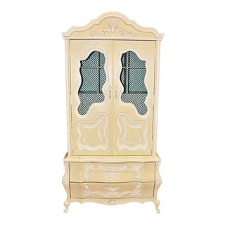 Painted Linen Press Armoire