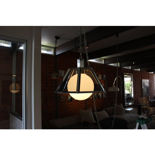 Vintage Fredrick Ramond Chandelier Chrome - Image 3 of 7