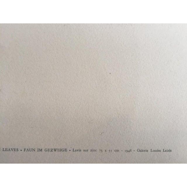 "Pablo Picasso 1948 ""Faune aux Branchages"" Lithograph - Image 5 of 5"