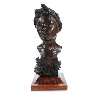 Vincenzo Rosignoli Patinated Bronze Boy Bust