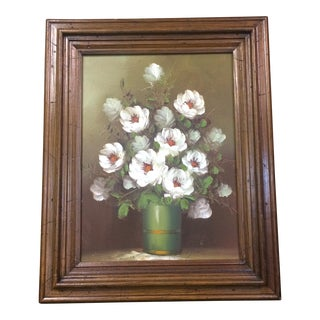 Vintage Floral Oil Painting by Robert Cox