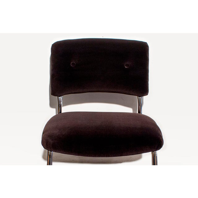 Steelcase Brown Micro-Velvet Cantilever Side Chair - Image 4 of 7