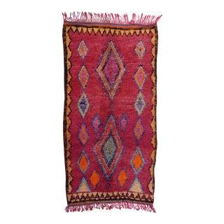 Vintage Boujad Moroccan Rug - 3′11″ × 7′3″