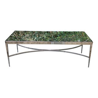 Barbara Barry Mirrored Chrome Coffee Table