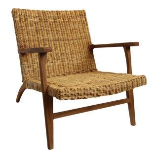 Modern Natural Fiber Easy Chair