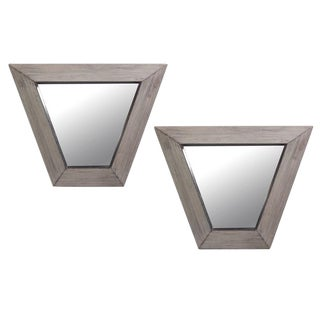 Pair of Fluted Trapezoidal Frame Mirrors