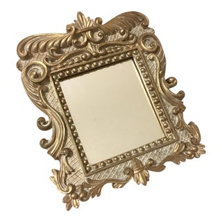 Vintage Baroque Gold Accent Mirror