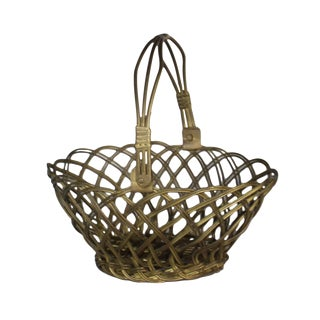 French Brass Basket