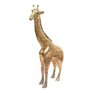 Large Brass & Copper Giraffe by Sergio Bustamante