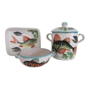 French Fish Service Bouillabaisse Set - Set of 3