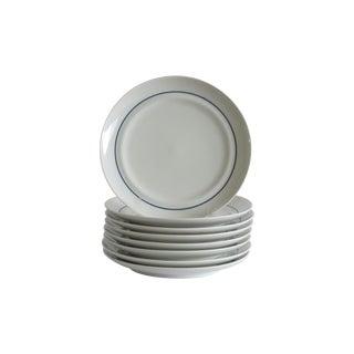 German Blue & White Dessert Plates - Set of 8