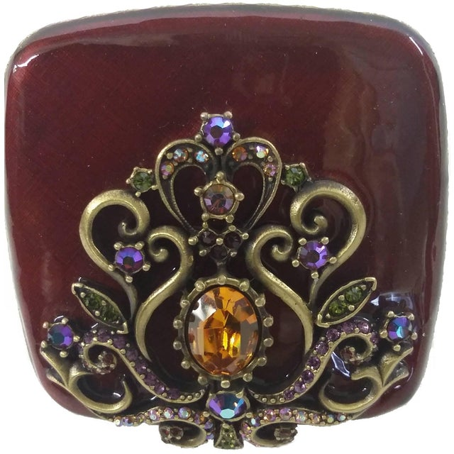 Image of Jay Strongwater Classic Mirror Enameled Compact