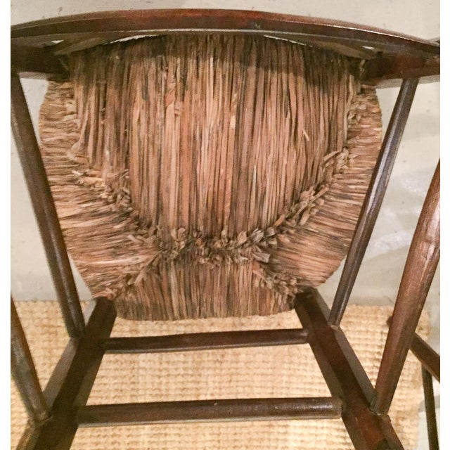 Image of Antique Splat Back With Tree Carving Chairs - Pair