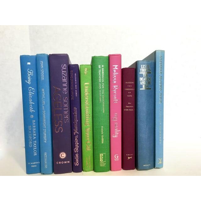 Image of Multicolor Decorative Books - Set of 10