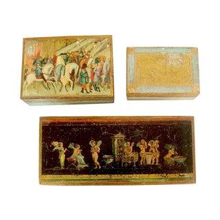 Italian Florentine Gilt Boxes - Set of 3