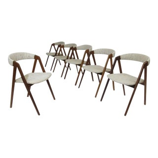 Six Walnut Danish Dining Chairs