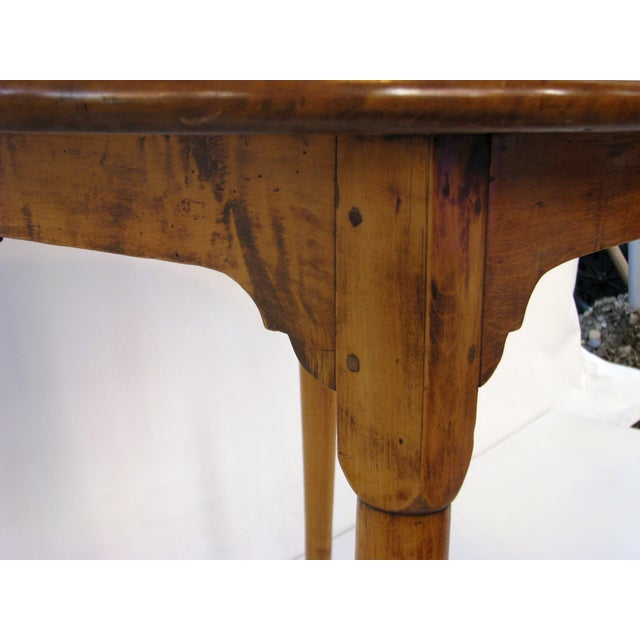 Queen Anne Birds-Eye Maple Oval Tea Table 18th C - Image 9 of 11