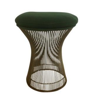 1974 Knoll Platner Green Upholstered Stool
