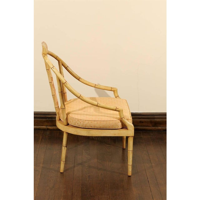 Hollywood Regency Bamboo Armchair - Image 2 of 7