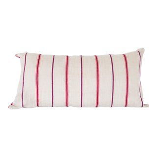 Tan & Red Striped Pillow