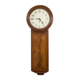 Regency Mahogany Tavern Clock
