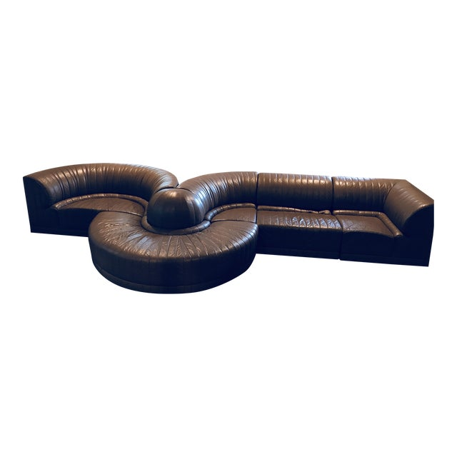 Roche Bobois Leather Sectional Sofa - Image 1 of 11