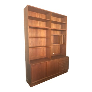 Mid-Century Danish Teak Bookcase Wall Unit