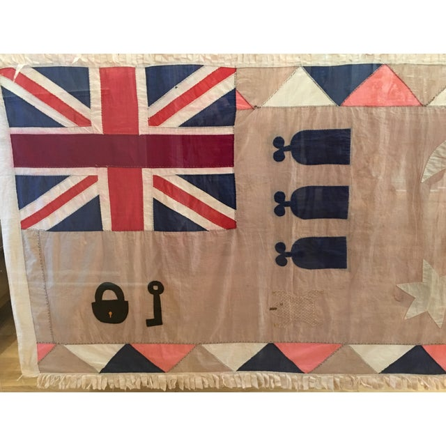 Antique British Colony Flag in Lucite Frame - Image 3 of 4