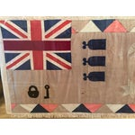 Image of Antique British Colony Flag in Lucite Frame
