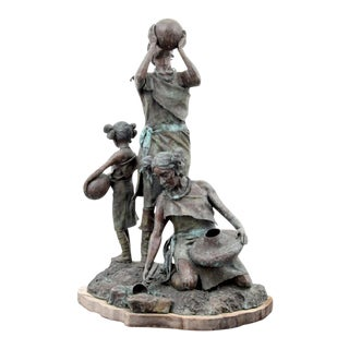 "Daro Flood ""Desert Water"" Bronze Figural Group"