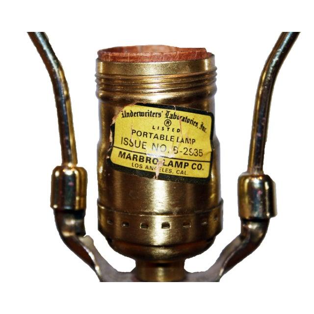 Image of Vintage Floral Ginger Jar Lamp by Marbro