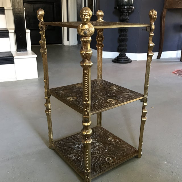 Image of Victorian Style Three Tier Side Table Shelf