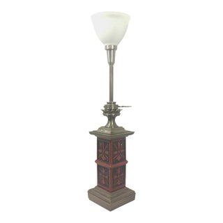 Stiffel Chinese Style Bronze Tone Table Lamp
