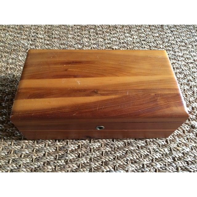Lane Furniture Cedar Jewelry Box - Image 4 of 5