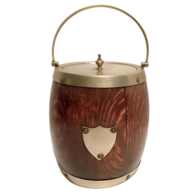 Image of Late 19th C. English Oak Biscuit Barrel/Ice Bucket