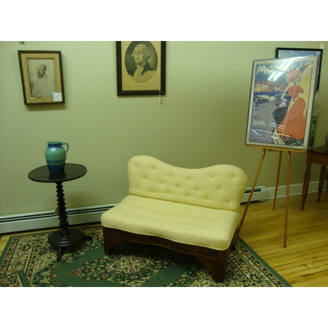 Image of Flame Mahogany Upholstered Bed Bench