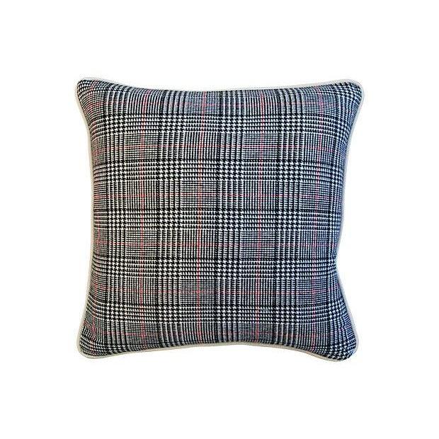 Custom Ralph Lauren Houndstooth Pillows - A Pair - Image 4 of 7