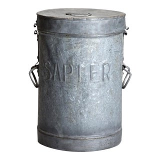 Industrial Tall Metal Lidded Storage Bin