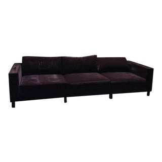 Dialogica Purple Velvet Custom Made Sofa