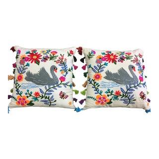 A Pair of Swan Pillows