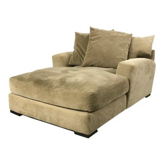 Z Gallerie Microsuede Chaise Lounge Sofa