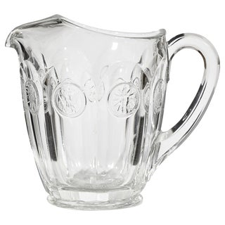 1960s Coin Glass Handled Pitcher