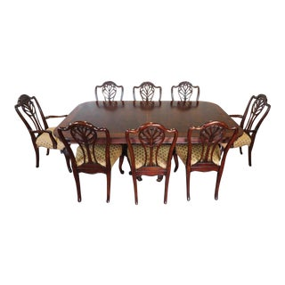 Drexel Heritage Portraits Collection Robinson Table W/ 8 Spencer Chairs