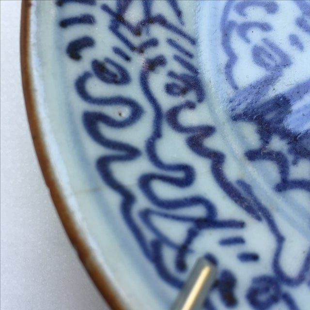 Antique Blue & White Plates, Flower Pattern - 4 - Image 10 of 11