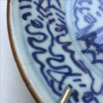 Image of Antique Blue & White Plates, Flower Pattern - 4