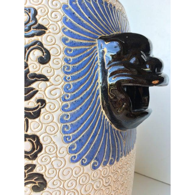 Chinese Porcelain Lion Head Motif Garden Stool - Image 6 of 11