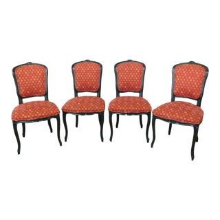Dark Green French Country Dining Chairs - Set of 4