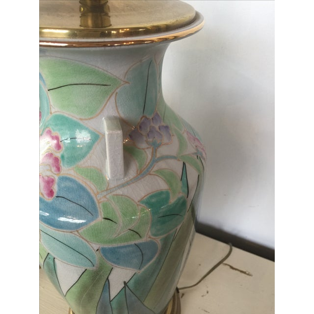 Chinoserie Hand Painted Fredrick Cooper Lamps - 2 - Image 5 of 9