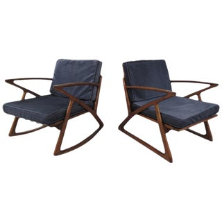 Poul Jensen Z Style Sculpted Lounge Chairs - a Pair