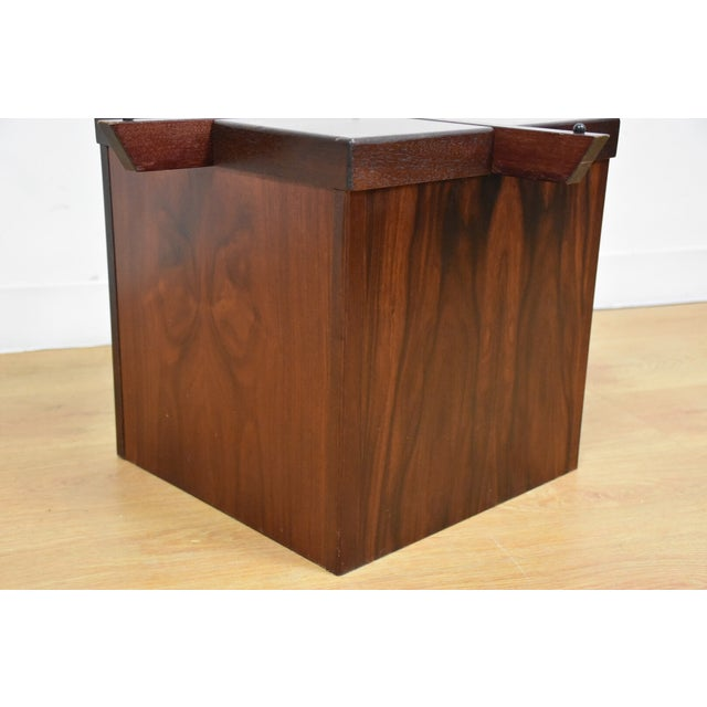 Image of Mid-Century Rosewood & Glass Danish Coffee Table